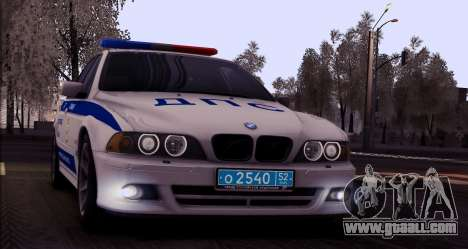 BMW E39 540i Russian Police for GTA San Andreas back view