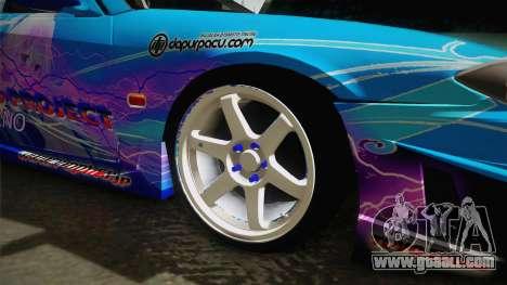 Nissan Silvia S15 Cirno Touho Project Itasha for GTA San Andreas back view