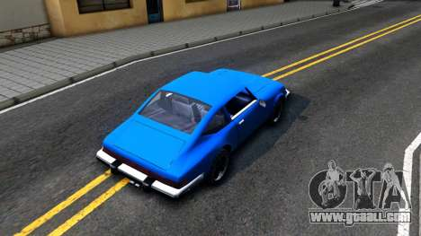Comet Restyle for GTA San Andreas back view