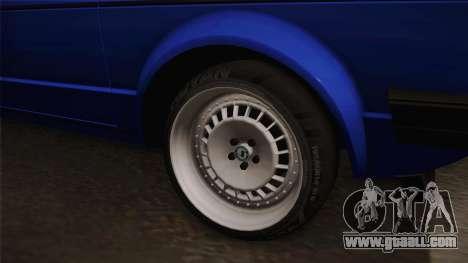 Volkswagen Golf Mk1 for GTA San Andreas back view
