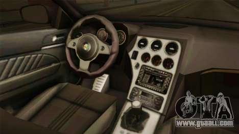 Alfa Romeo 159 for GTA San Andreas inner view