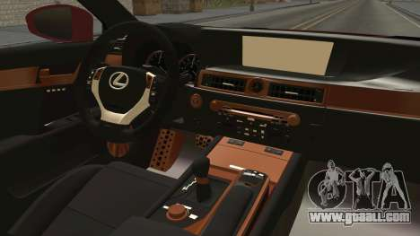 Lexus GS350 F Sport for GTA San Andreas inner view