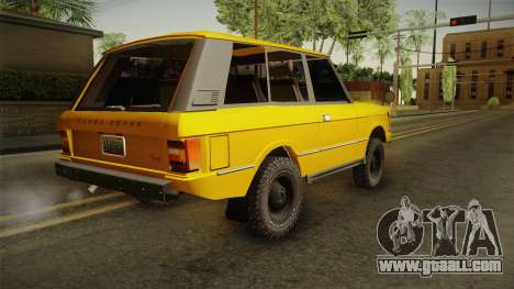 Land Rover Range Rover 1978 for GTA San Andreas left view