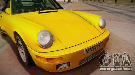 RUF CTR Yellowbird (911 930) 1987 for GTA San Andreas back left view
