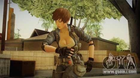 Sudden Attack 2 - Female Blue for GTA San Andreas
