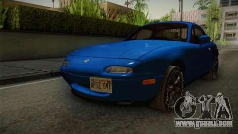 Mazda MX-5 1994 for GTA San Andreas right view
