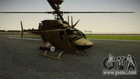 OH-58D Croatian Air Force for GTA San Andreas right view