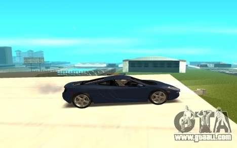 McLaren for GTA San Andreas left view