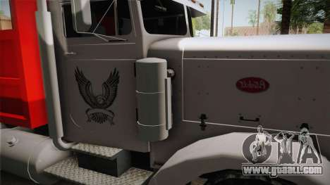 Peterbilt 351 Dump Truck for GTA San Andreas inner view