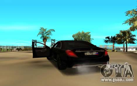 Mercedes-Benz S-Class for GTA San Andreas back left view