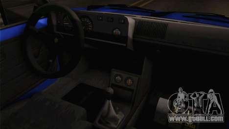 Volkswagen Golf Mk1 for GTA San Andreas inner view