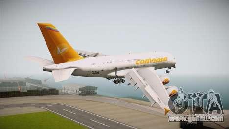 Airbus A380-861 Conviasa for GTA San Andreas right view