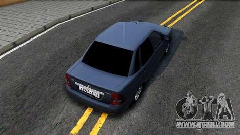 VAZ 2170 V3 for GTA San Andreas back view