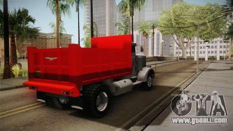 Peterbilt 351 Dump Truck for GTA San Andreas right view