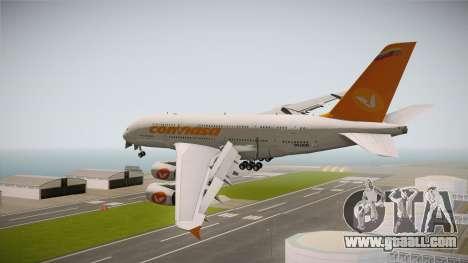 Airbus A380-861 Conviasa for GTA San Andreas left view