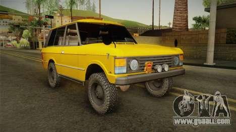 Land Rover Range Rover 1978 for GTA San Andreas