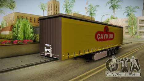 Caykur Trailer for GTA San Andreas back left view