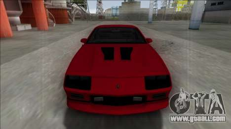 1990 Chevrolet Camaro IROC-Z for GTA San Andreas back view