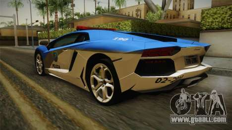 Lamborghini Aventador LP700-4 PMERJ for GTA San Andreas left view