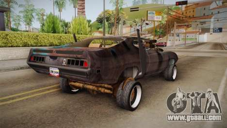 Ford Gran Torino Mad Max for GTA San Andreas back left view
