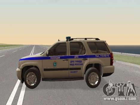 Chevrolet Tahoe Police DPS for GTA San Andreas left view