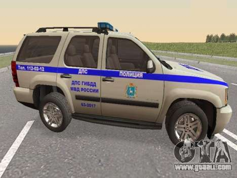 Chevrolet Tahoe Police DPS for GTA San Andreas right view