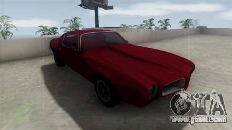 1970 Pontiac Firebird for GTA San Andreas inner view