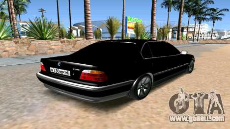 BMW 730 E38 for GTA San Andreas back left view