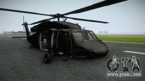 CoD 4: MW - UH-60 Blackhawk RAF Remastered for GTA San Andreas back left view