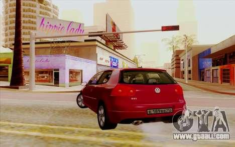 Volkswagen Golf GTI for GTA San Andreas left view