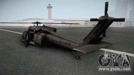 CoD 4: MW - UH-60 Blackhawk RAF Remastered for GTA San Andreas right view