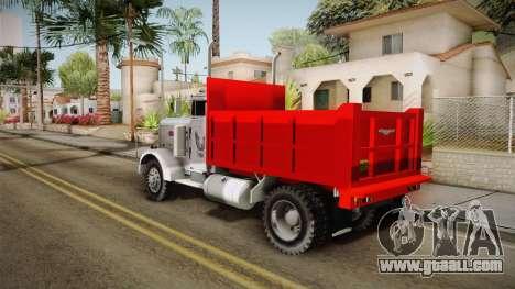 Peterbilt 351 Dump Truck for GTA San Andreas left view