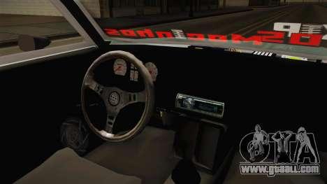 Chevrolet Chevette 1976 for GTA San Andreas inner view