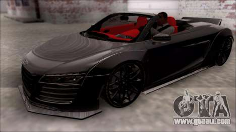 Audi R8 Spyder 5.2 V10 Plus LB Walk for GTA San Andreas