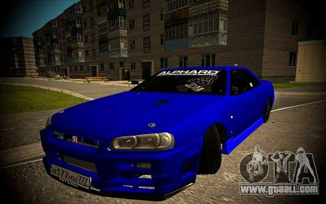 Nissan Skyline HR 34 for GTA San Andreas
