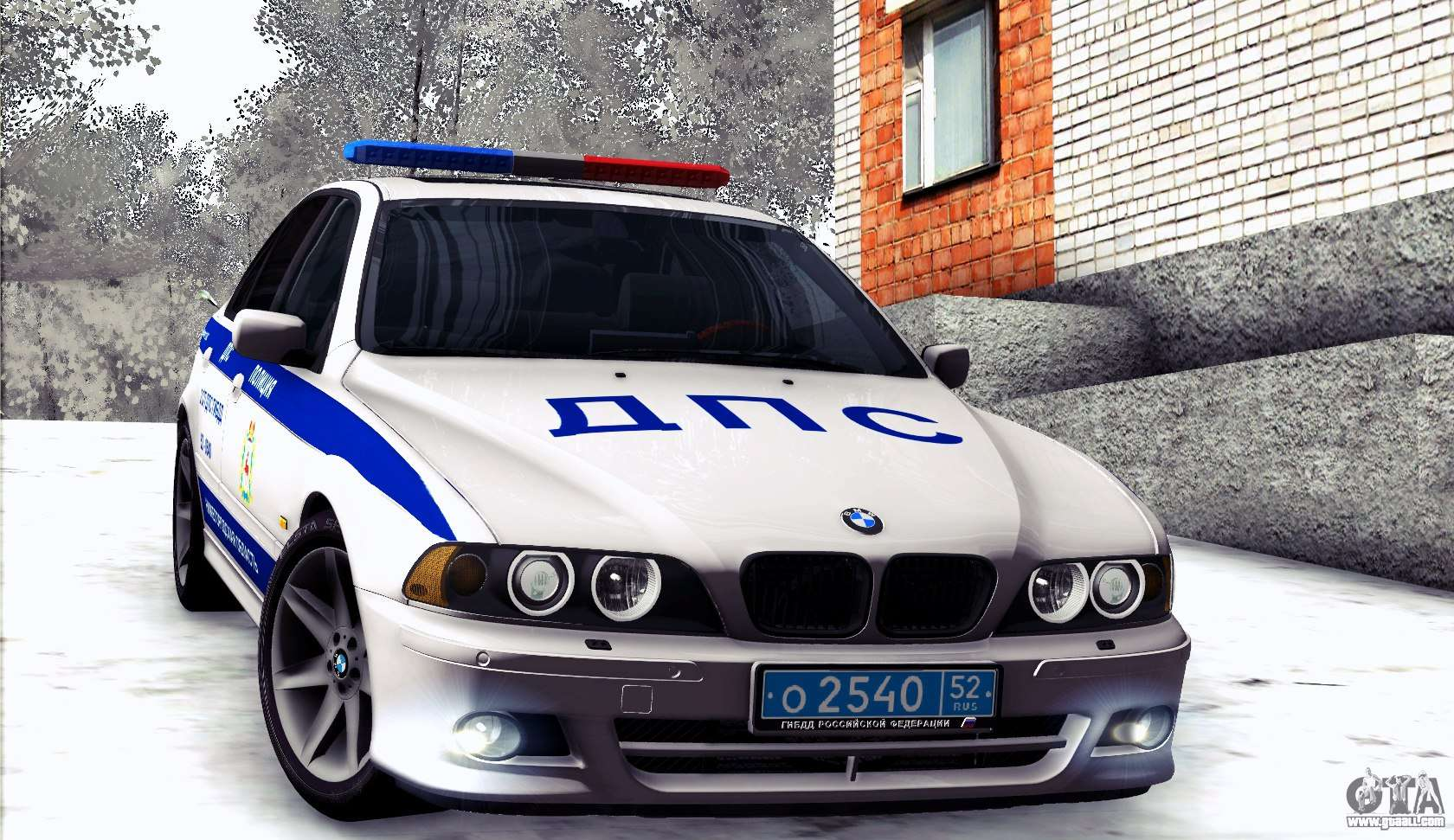 bmw e39 540i russian police for gta san andreas. Black Bedroom Furniture Sets. Home Design Ideas