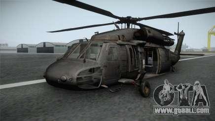 CoD 4: MW - UH-60 Blackhawk RAF Remastered for GTA San Andreas