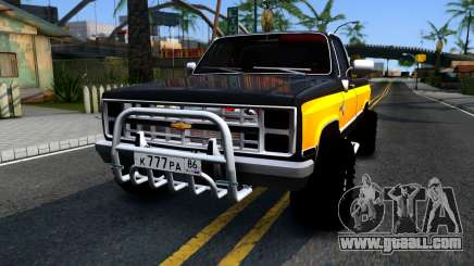 Chevrolet Silverado K-10 2500 1986 for GTA San Andreas