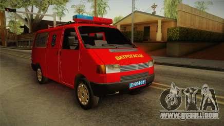 Volkswagen T4 Kombi Vatrogasci for GTA San Andreas