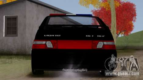 VAZ 2112 POLICE for GTA San Andreas right view