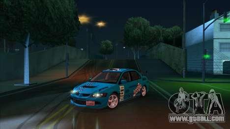 2003 Mitsubishi Lancer GSR Evolution VIII for GTA San Andreas