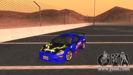 2003 Mitsubishi Eclipse GTS Mk.III for GTA San Andreas bottom view