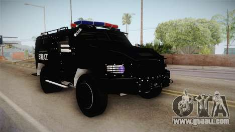 New Enforcer for GTA San Andreas back left view