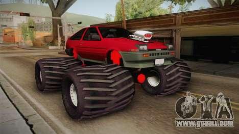 Toyota Corolla GT-S Monster Truck for GTA San Andreas