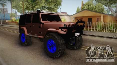 Jeep Wrangler 2012 for GTA San Andreas right view
