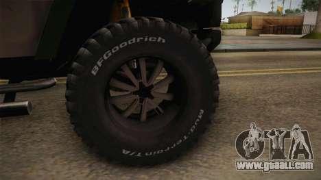 Hummer Wrangler H2 for GTA San Andreas back view