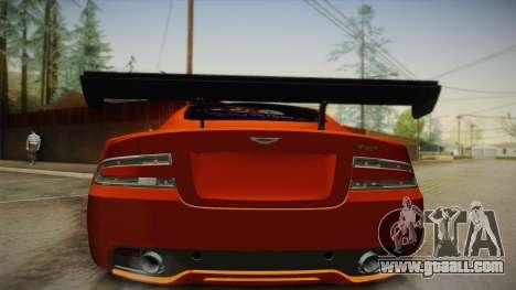 Aston Martin Virage 2012 for GTA San Andreas back view