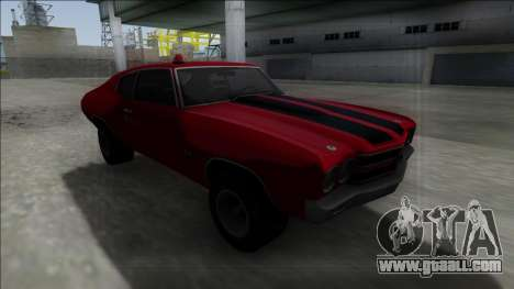 1970 Chevrolet Chevelle SS for GTA San Andreas back view