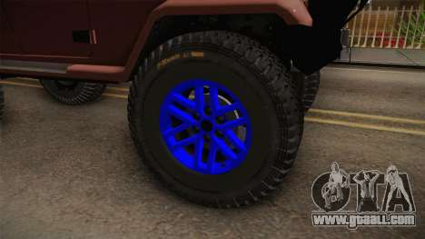 Jeep Wrangler 2012 for GTA San Andreas back view