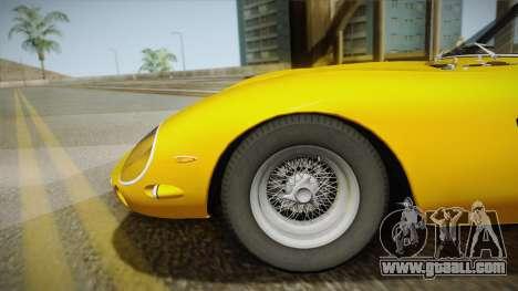 Ferrari 250 GTO (Series I) 1962 IVF PJ1 for GTA San Andreas back left view